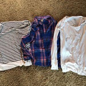 BOGO listing of three long sleeved tops